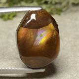 thumb image of 9.3ct Fancy Cabochon Multicolor Fire Agate (ID: 487194)