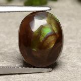thumb image of 5ct Oval Cabochon Multicolor Fire Agate (ID: 488280)