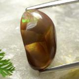 thumb image of 4.2ct Fancy Cabochon Multicolor Fire Agate (ID: 489249)