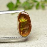 thumb image of 1.4ct Fancy Cabochon Multicolor Fire Agate (ID: 490398)
