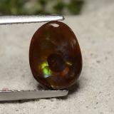 thumb image of 1.6ct Oval Cabochon Multicolor Fire Agate (ID: 490849)