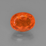 thumb image of 1.4ct Oval Facet Reddish Orange Fire Opal (ID: 367136)