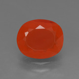thumb image of 2.4ct Oval Facet Reddish Orange Fire Opal (ID: 369801)