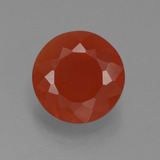 thumb image of 0.8ct Round Facet Reddish Orange Fire Opal (ID: 383234)