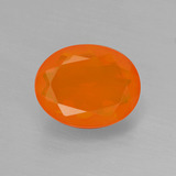 thumb image of 1.7ct Oval Facet Orange Fire Opal (ID: 405201)