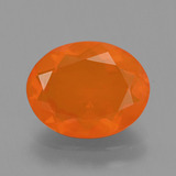 thumb image of 1.7ct Oval Facet Orange Fire Opal (ID: 405530)