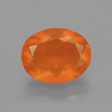 thumb image of 1.5ct Oval Facet Orange Fire Opal (ID: 405531)