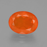 thumb image of 2.5ct Oval Facet Orange Fire Opal (ID: 405611)