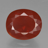 thumb image of 4.7ct Oval Facet Orange Red Fire Opal (ID: 420071)