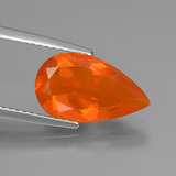 thumb image of 2.1ct Pear Facet Orange Fire Opal (ID: 431143)