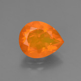 thumb image of 1.9ct Pear Facet Orange Fire Opal (ID: 431265)
