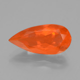 thumb image of 2.4ct Pear Facet Orange Fire Opal (ID: 431611)