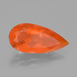 2.36 ct Pear Facet Orange Fire Opal Gem 15.64 mm x 7.6 mm (Photo B)