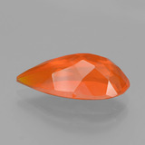 2.36 ct Pear Facet Orange Fire Opal Gem 15.64 mm x 7.6 mm (Photo C)