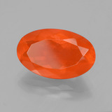2.58 ct Oval Facet Orange Fire Opal Gem 13.91 mm x 8.7 mm (Photo B)