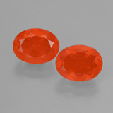 thumb image of 2.1ct Oval Facet Orange Fire Opal (ID: 431896)