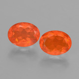 thumb image of 1.7ct Oval Facet Orange Fire Opal (ID: 431898)