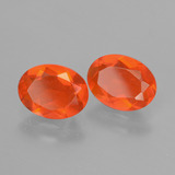 0.70 ct Oval Facet Orange Fire Opal Gem 8.18 mm x 6.1 mm (Photo B)