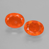 thumb image of 1.3ct Oval Facet Orange Fire Opal (ID: 431942)