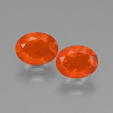 thumb image of 1.4ct Oval Facet Orange Fire Opal (ID: 431971)