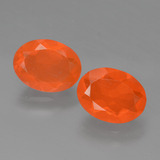 thumb image of 1.5ct Oval Facet Orange Fire Opal (ID: 432038)
