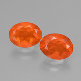 thumb image of 0.8ct Oval Facet Orange Fire Opal (ID: 432087)