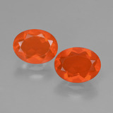 thumb image of 1.4ct Oval Facet Orange Fire Opal (ID: 432088)