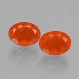 thumb image of 1.7ct Oval Facet Orange Fire Opal (ID: 432092)