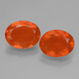 thumb image of 1.9ct Oval Facet Orange Fire Opal (ID: 432096)
