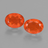 thumb image of 1.6ct Oval Facet Orange Fire Opal (ID: 432097)