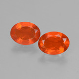 thumb image of 1.2ct Oval Facet Orange Fire Opal (ID: 432098)