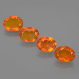 thumb image of 2.6ct Oval Facet Orange Fire Opal (ID: 432296)