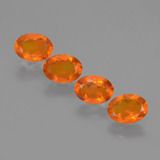 thumb image of 2.2ct Oval Facet Orange Fire Opal (ID: 432297)