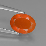 thumb image of 0.8ct Oval Facet Orange Fire Opal (ID: 432335)