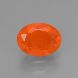 thumb image of 1ct Oval Facet Orange Fire Opal (ID: 432337)