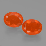 thumb image of 2.2ct Oval Facet Orange Fire Opal (ID: 432448)
