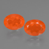 thumb image of 1.7ct Oval Facet Orange Fire Opal (ID: 432452)