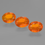 thumb image of 2.1ct Oval Facet Orange Fire Opal (ID: 432456)