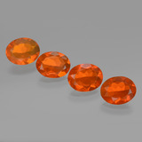 thumb image of 3.5ct Oval Facet Orange Fire Opal (ID: 432457)