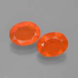 thumb image of 1.4ct Oval Facet Orange Fire Opal (ID: 449530)