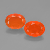 thumb image of 1.8ct Oval Facet Orange Fire Opal (ID: 449536)