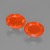 thumb image of 1.3ct Oval Facet Orange Fire Opal (ID: 449537)