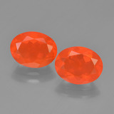 thumb image of 2.2ct Oval Facet Orange Fire Opal (ID: 449538)