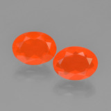 thumb image of 1.5ct Oval Facet Orange Fire Opal (ID: 449539)