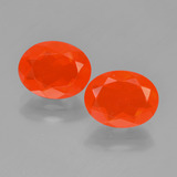 thumb image of 2.1ct Oval Facet Orange Fire Opal (ID: 449556)