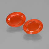 thumb image of 1.3ct Oval Facet Orange Fire Opal (ID: 449560)