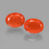 thumb image of 1.6ct Oval Facet Orange Fire Opal (ID: 449564)