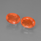 thumb image of 1.8ct Oval Facet Orange Fire Opal (ID: 449569)