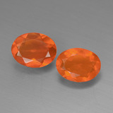thumb image of 1ct Oval Facet Orange Fire Opal (ID: 449573)