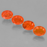 thumb image of 3.6ct Oval Facet Orange Fire Opal (ID: 449581)